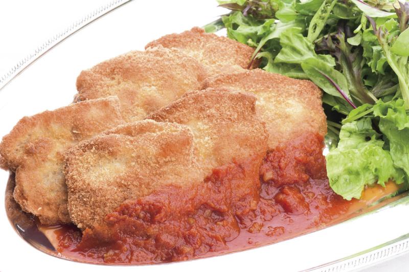 7.メイン(洋) 信州オレイン豚のチーズ in カツレツ トマトソース