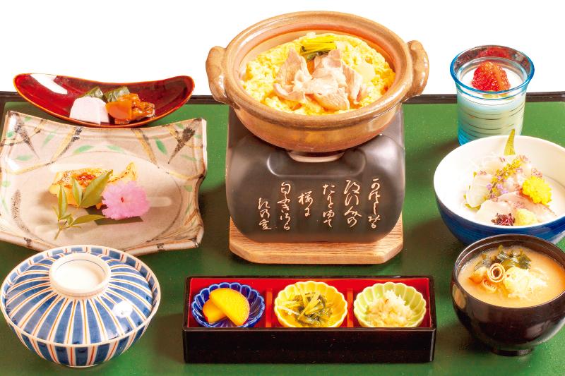 信州オレイン豚卵とじ小鍋御膳