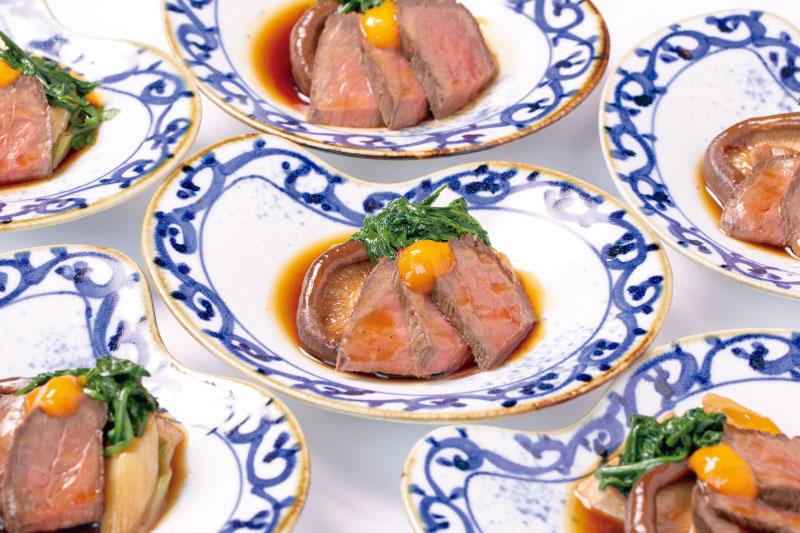 10.メイン(和) 信州アルプス牛と大きい椎茸の鋤煮風