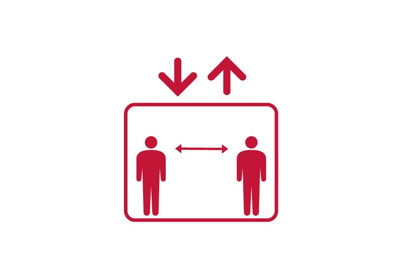 エレベーターの入場制限