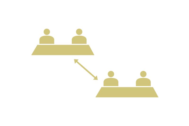 座席制限によるテーブル間隔の確保