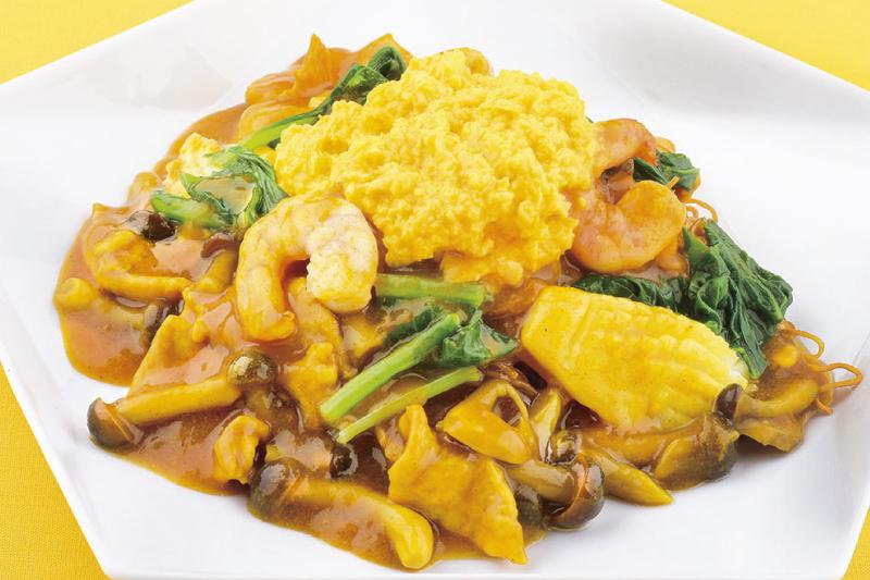 中国レストラン聖紫花 中国料理シェフが作るカレーあん掛け焼きそば