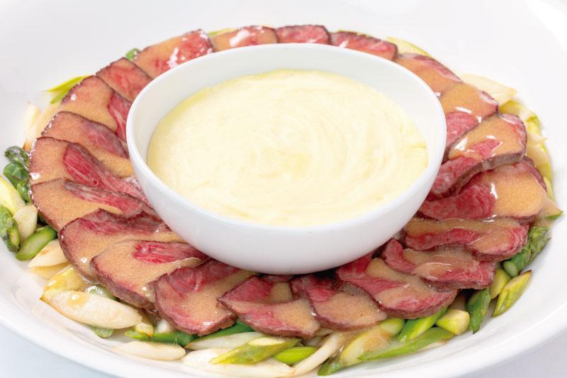 7.メイン(洋) 牛肉のローストビーフ シャルドネビネガーソース