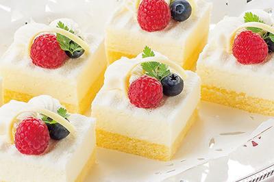 ⑲ さっぱりレモンとチーズのケーキ (デミタスコーヒー付)