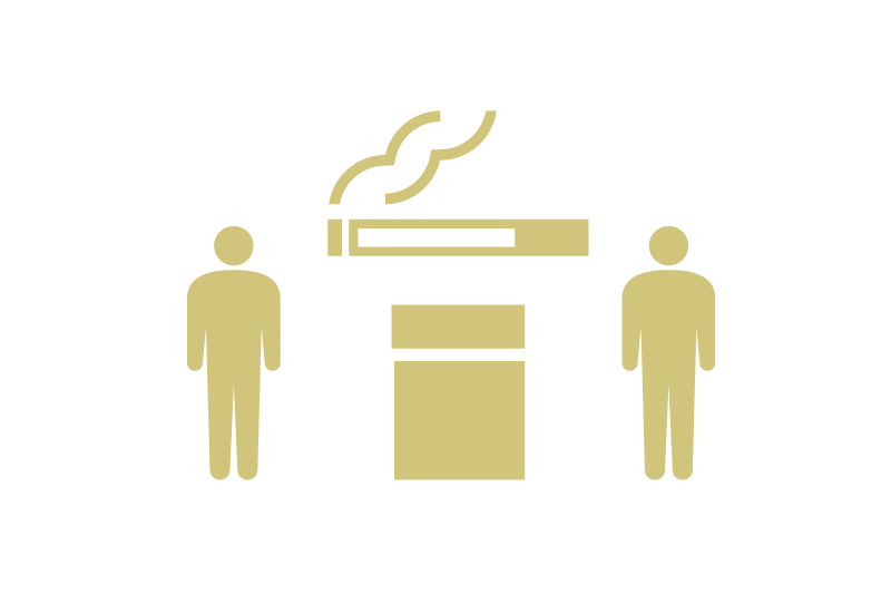 喫煙スペースの利用制限