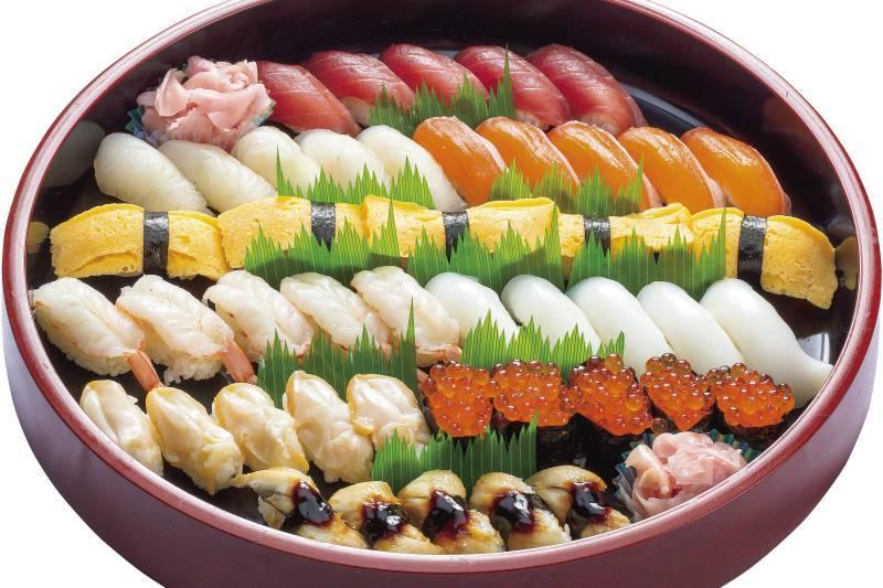 握り寿司(45貫/桶)通常価格 11,880円/1桶 特別価格10,000円/1桶