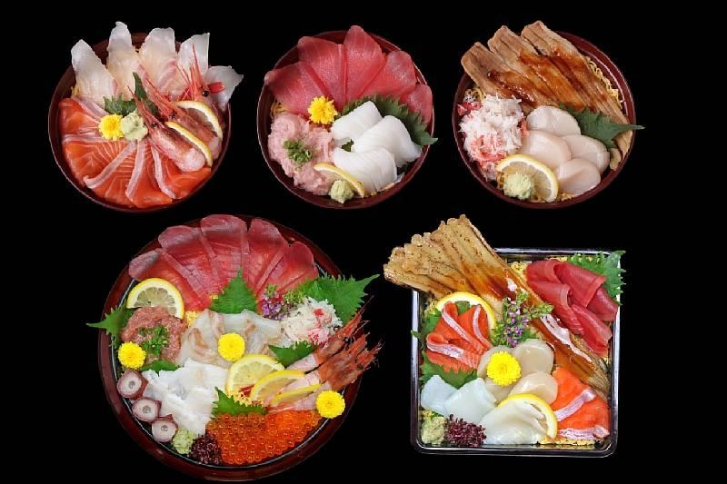 選べる海鮮丼御膳  12種類の海鮮から3品・5品・7品