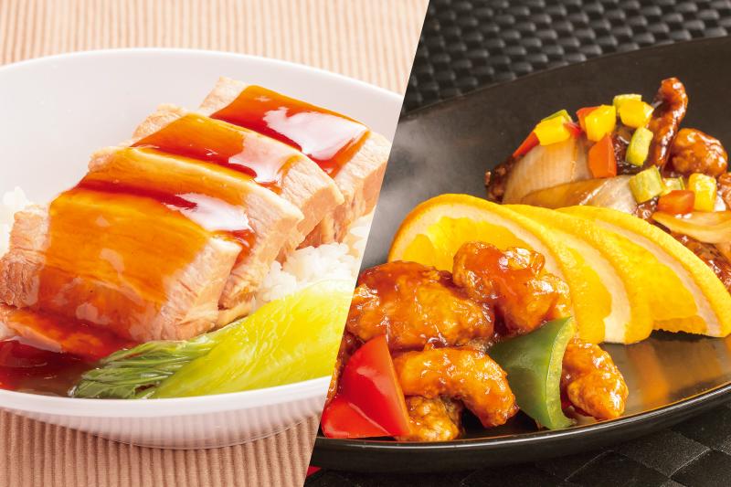 【信州オレイン豚フェア】信州オレイン豚の2種甘酢炒め・信州オレイン豚の角煮丼(1/7~2/29)