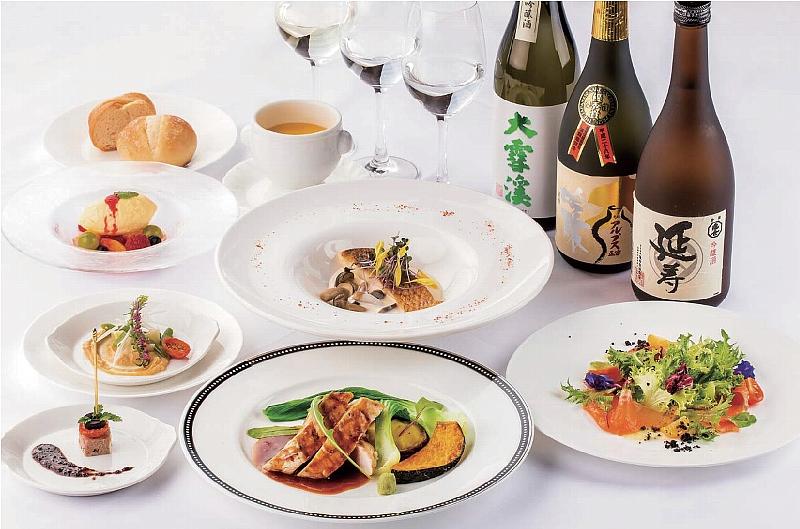 【ソルプレーサ】フランス料理と日本酒のマリアージュプラン「爽」